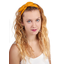Wire headband retro yellow ochre