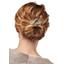 Wire headband retro gold linen