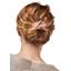 Wire headband retro mini pink flower