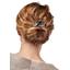 Wire headband retro ochre bird