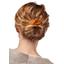 Wire headband retro caramel golden straw