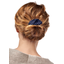 Wire headband retro navy blue spots