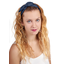 Wire headband retro navy blue