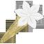 Barrette clic-clac fleur étoile blanc - PPMC