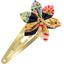 Barrette clic-clac fleur étoile bulles dorées - PPMC