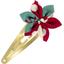 Barrette clic-clac fleur étoile cerisier rubis jade - PPMC