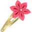 Star flower hairclip coral - PPMC