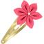 Barrette clic-clac fleur étoile corail - PPMC