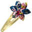 Star flower hairclip pink blue dalhia - PPMC