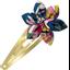 Barrette clic-clac fleur étoile dahlia rose marine - PPMC