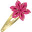 Star flower hairclip etoile or fuchsia - PPMC