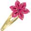Barrette clic-clac fleur étoile etoile or fuchsia - PPMC