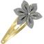 Barrette clic-clac fleur étoile etoile or gris - PPMC