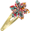 Barrette clic-clac fleur étoile floral pêche - PPMC