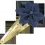 Barrette clic-clac fleur étoile jean fin - PPMC