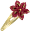 Star flower hairclip ruby dragonfly - PPMC