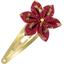 Passador clic clac flor estrella libélula rojo - PPMC