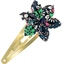 Star flower hairclip green azure flower - PPMC