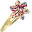 Barrette clic-clac fleur étoile oeillets jean - PPMC