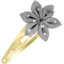 Star flower hairclip silver grey spots - PPMC