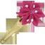 Barrette clic-clac fleur étoile pois fuchsia - PPMC