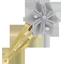 Barrette clic-clac fleur étoile pois gris clair - PPMC