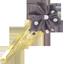Barrette clic-clac fleur étoile pois prune - PPMC
