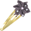 Star flower hairclip plum spots