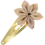 Star flower hairclip pink coppers spots - PPMC