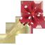 Barrette clic-clac fleur étoile pois rouge - PPMC
