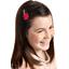 Barrette clic-clac fleur étoile rouge