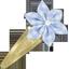 Star flower hairclip sky blue gingham