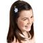 Barrette clic-clac fleur étoile vichy ciel