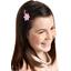 Barrette clic-clac fleur étoile vichy fuchsia
