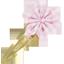 Barrette clic-clac fleur étoile vichy rose - PPMC