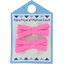 Barrette clic-clac mini ruban rose - PPMC