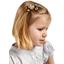 Barrette clic-clac mini ruban bulles dorées
