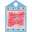 Small ribbons hair clips coral - PPMC