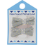 Small ribbons hair clips etoile or gris - PPMC