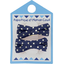 Small ribbons hair clips etoile marine or - PPMC