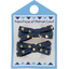 Small ribbons hair clips etoile or marine  - PPMC