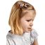 Barrette clic-clac mini ruban fleurs du mékong
