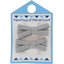 Barrette clic-clac mini ruban gris