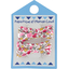 Barrette clic-clac mini ruban jasmin rose - PPMC