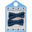 Small ribbons hair clips light denim - PPMC