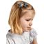 Barrette clic-clac mini ruban jean fin