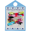 Small ribbons hair clips kokeshis - PPMC