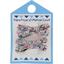 Barrette clic-clac mini ruban liane fleurie