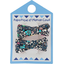 Small ribbons hair clips green azure flower - PPMC