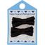 Barrette clic-clac mini ruban noir